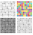 100 church icons set variant vector image vector image