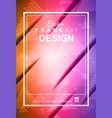 abstract geometric colorful background with high vector image vector image