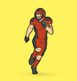 american football player action sport concept gra vector image vector image