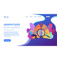 anaphylaxis concept landing page vector image vector image