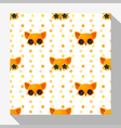 Animal seamless pattern collection with fox 5 vector image vector image