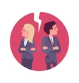 Bad business relationship vector image