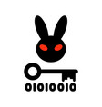 Bad rabbit ransomware virus vector image