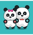 bear panda stuffed icon vector image vector image