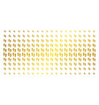 boot footprints gold halftone effect vector image vector image