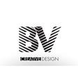 bv b v lines letter design with creative elegant vector image vector image