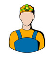 coal miner icon icon cartoon vector image vector image