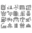 collection dotted icons industries vector image