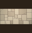 cracked stone block wall vector image