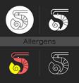 crustaceans and molluscs dark theme icon