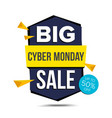cyber monday sale banner advertising vector image vector image