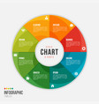 cycle chart infographic template with 8 parts vector image vector image