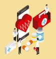 digital health concept vector image