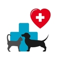dog and cat veterinary icon vector image vector image