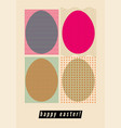 easter greeting card with ornamental eggs vector image vector image