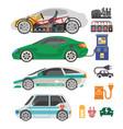 electrocar or electric car passenger automobile vector image
