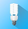 energy saving lamp Flat graphics vector image vector image