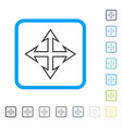expand arrows framed icon vector image vector image