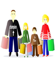 family with shopping vector image vector image