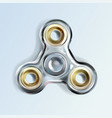 fidget finger hand spinner antistress toy vector image