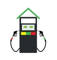 Filling Gun on Refueling the Car vector image