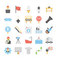 flat icons industrial and construction vector image