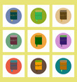 flat icons set of back to school concept on vector image vector image