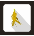 Ginseng rot icon in flat style
