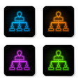 glowing neon referral marketing icon isolated on vector image