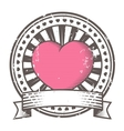 Grunge rubber stamp with heart Valentines Day vector image vector image