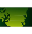 halloween scary landscape on green background vector image vector image