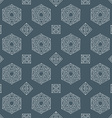 hand drawn polyhedrons seamless pattern vector image vector image