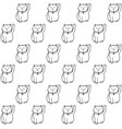hand drawn seamless pattern with japanese cats vector image