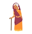 indian grandma vector image vector image