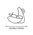 irregular shape tableware linear icon vector image vector image