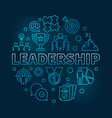 leadership round blue in thin vector image vector image