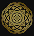 mandala design ethnic round ornament hand drawn vector image vector image