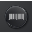 modern black glass circle icon vector image vector image