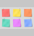 note sticky color paper notes attached by vector image