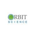 orbit science technology logo vector image vector image