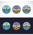 Outdoor Sports Landscape Nature Logo Template Set vector image vector image