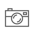 public navigation line icon photo camera vector image vector image