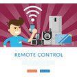 remote control for household appliances concept vector image vector image