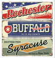 rochester buffalosyracuse new york state vector image vector image