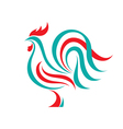 Rooster logo template concept vector image vector image