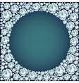 Round frame made of diamonds vector image vector image