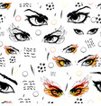seamless background with catching eyes endless vector image vector image