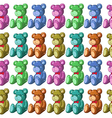 Seamless design with bears vector image vector image