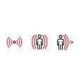 set motion sensor concept icons editable line vector image
