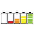simple illustrated battery icon vector image vector image